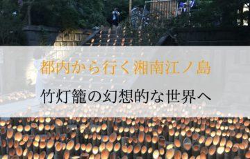 瀧ノ口の竹灯籠の画像