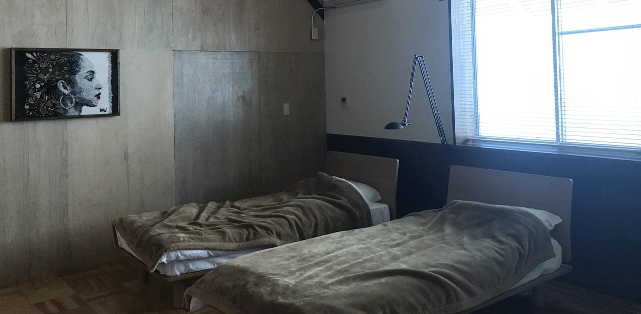 ゲストハウスのベッドの画像